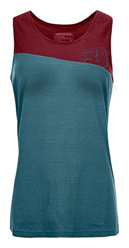 ORTOVOX 150 COOL LOGO TANK TOP W MID AQUA XS - Hoch Tencel Großen T-shirt