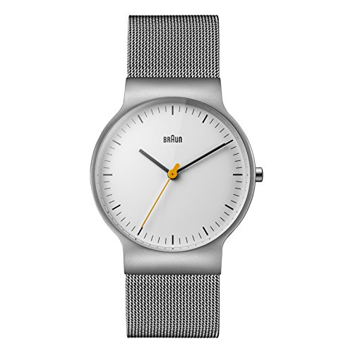 Braun Mens Quartz Watch, Analogue Classic Display and Stainless Steel Strap BN0211WHSLMHG