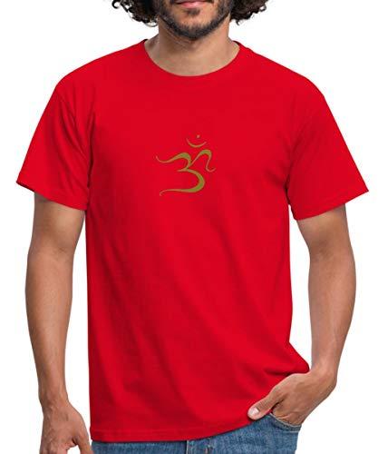 Spreadshirt Om Ohm Omm Om Namah Shivaya Aum Männer T-Shirt, 4XL, Rot