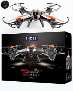 s-idee 01217 Quadrocopter U842 HD KAMERA 4.5 Kanal 2.4 Ghz Drohne mit Gyroscope Technik Akkuwarner - 5