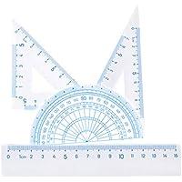 Geometry Set para estudiantes Geometry School Set con Regla Lineal 45° Regla Triángulo Ángulo Derecho Triángulo Regla Protractor