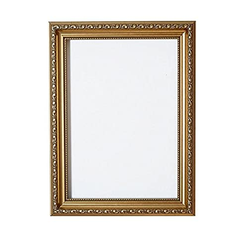 Gold A4 Ready to hang or stand Ornate Shabby Chic Picture/Photo/Poster frame with MDF backing board and High Clarity Styrene Shatterproof Perspex Sheet - FBA - oscp-2-gld-A4