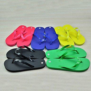zhENfu donna pantofole & amp; flip-flops Comfort estivo PVC outdoor casual tacco piatto Blu Verde Rosso Nero giallo a piedi Green