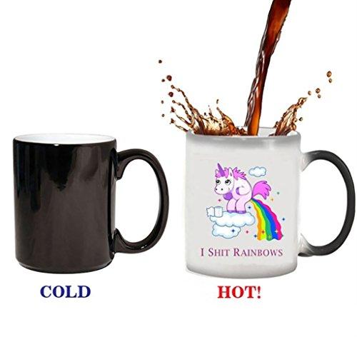 Formemory Einhorn Hitze Farbwechsel Tassen, Regenbogen Kaffeetasse Keramik Tassen -...