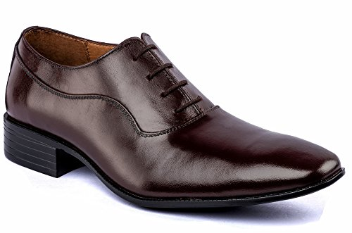 De Sclazo Brown Leather Formal Shoes for Men