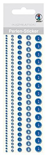 Ursus 75010006 - Perlen Sticker Bordüren, rund, blau