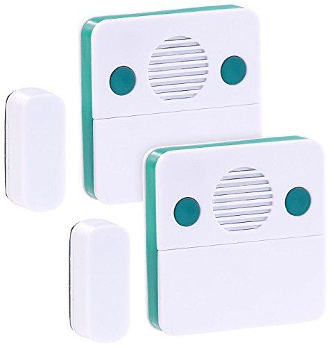VisorTech Kühlschrank Türalarm: 2er-Set Universal-Türschließ-Erinnerungs-Alarm, 15/30 Sek. Auslösezeit (Kühlschrank-Alarm mit Türkontakt) -