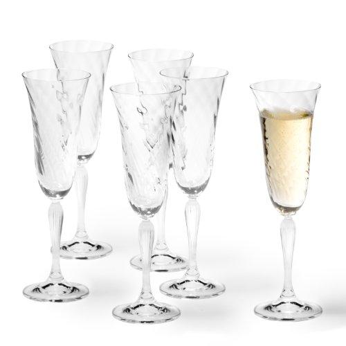 Leonardo Volterra Sektglas, 6-er Set, 185 ml, spülmaschinengeeignet, Klarglas, 020763