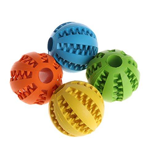 ECMQS 7cm/2.76zoll Hund Spielzeug Interaktive Gummibälle, Haustier