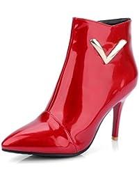 Suchergebnis auf Amazon.de für  Rote Lack Stiefeletten - Stiefel ... c3191c378a