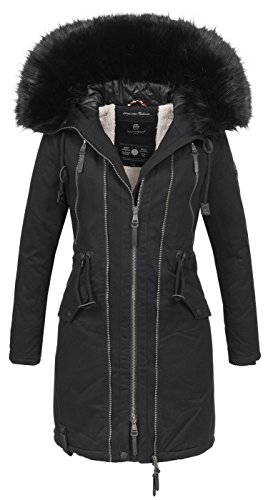 Navahoo warme Damen Winter Jacke Parka Mantel Winterjacke B642 1