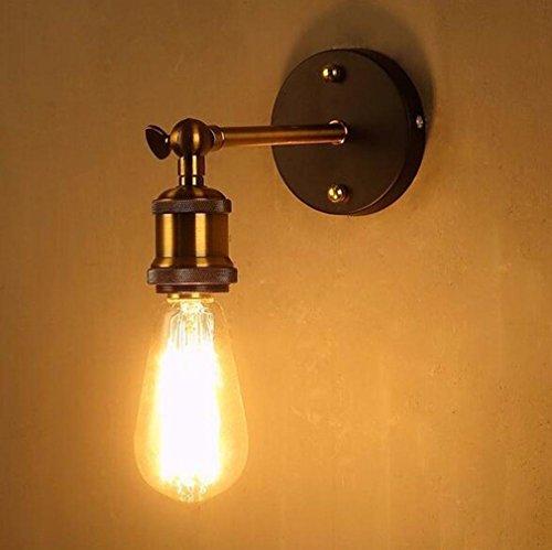 Twin Loft-schlafzimmer (XIAOJIA American Style Dorf einfach kreativ Retro Wand Lampe Flur Schlafzimmer Restaurant Eisenstange am Krankenbett verstellbare Leselampe , B)