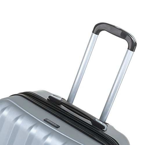 TSA-Schloß 2080 Hangepäck Zwillingsrollen neu Reisekoffer Koffer Trolley Hartschale XL-L-M(Boardcase) in 12 Farben (Silber, M) - 6