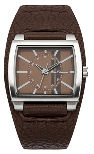 ben-sherman-mens-quartz-watch-with-brown-dial-analogue-display-and-brown-plastic-strap-bs041