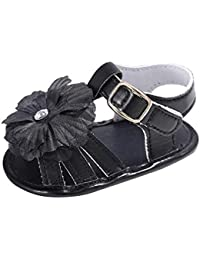 Keepwin Infant Baby Boys Girls Canvas Summer Hook-and-Loop Sandal First Walkers