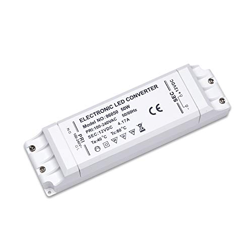 Price comparison product image Yafido 12V 50W LED Driver Transformer LED 4.2A Power Supply Constant Voltage for LED Strip Light G4 MR16 GU5.3 MR11 Bulbs AC / DC Low Voltage Converter