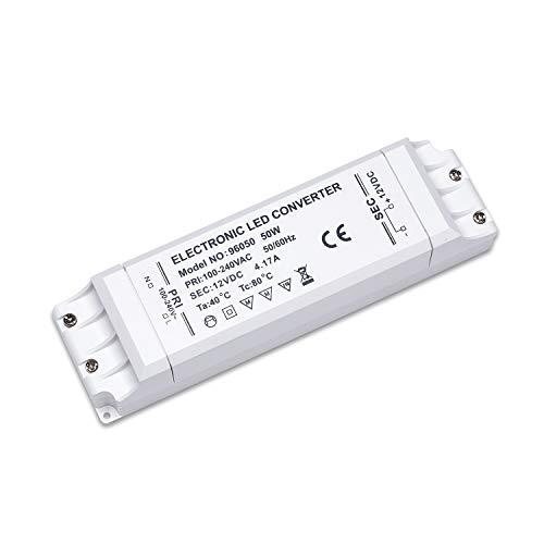 Yafido LED Transformador 220V 12V Trafo 50W 4.17A