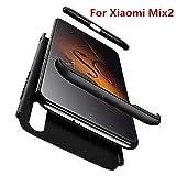 AIOIA Custodia Integrale per Xiaomi Mi Mix 2,Cover Protettiva Fronte + Xiaomi Mi Mix 2 Pellicola Protettiva in Vetro Temperato, Rigida...
