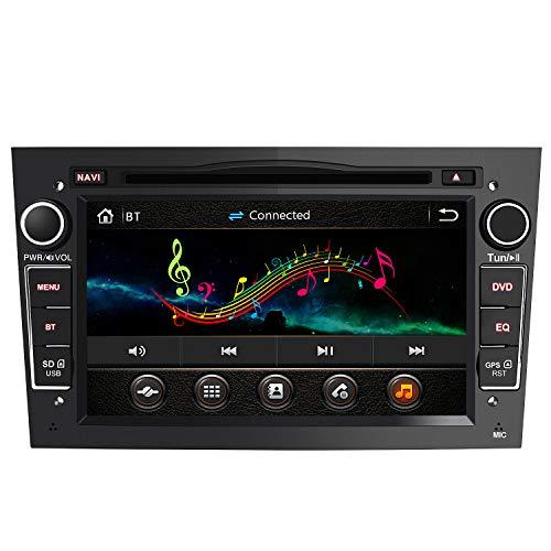Radio Coche 7 Pulgadas con Pantalla Táctil 2 DIN para Opel, Opel Autoradio con Bluetooth/GPS/FM/RDS/CD DVD/USB/SD, Apoyo Mandos Volante, Mirrorlink y Aparcacimiento (Negra)