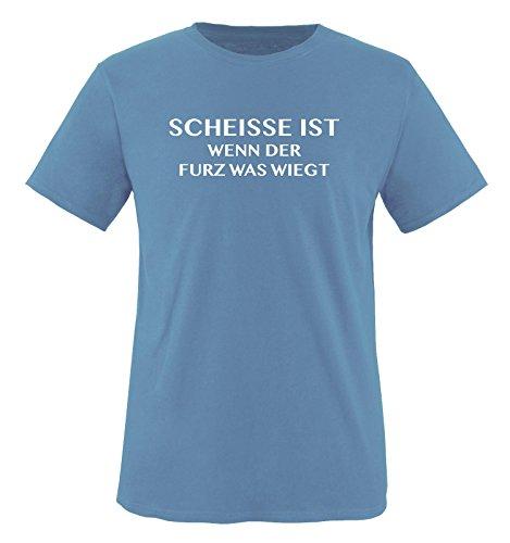Scheisse ist - Wenn der Furz was wiegt - Herren T-Shirt - Hellblau/Weiss Gr. S - Riechen Fürze