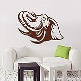Geiqianjiumai Elephant Art Design Wohnkultur Vinyl Wandaufkleber Abnehmbare Wohnkultur Braun 58cm x...