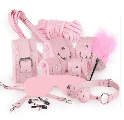 Faniyc Play Game Kostüm Männer Frauen Party Love Cosplay Spielzeug Paare lustig Spielzeug für Erwachsene Bindewerkzeug Pink Ten Sets (Lustige Paare Kostüme Für Erwachsene)