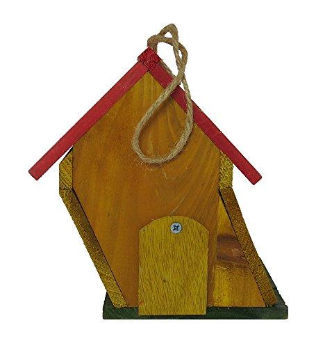 Vogelhaus aus Holz zum aufhängen oder hinstellen (18 x 19 x 14cm) - 3