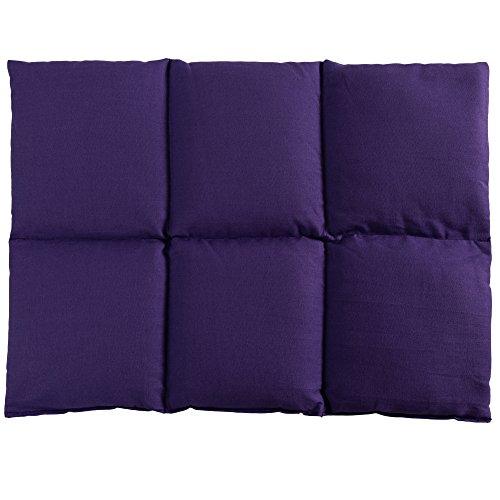 Saco térmico de semillas calor/frio para la espalda 40x30 violeta con 6 compartimientos, pepitas...