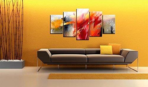 impression sur toile 200x100 cm grand format 5 pieces. Black Bedroom Furniture Sets. Home Design Ideas