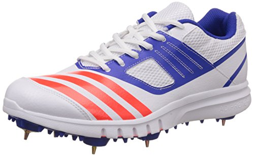 1f7ad2a0ab3a Adidas s78489 Men S Howzatt Spike White Red And Blue Cricket Shoes 10 Uk- Price  in India