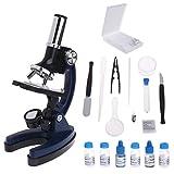 JENOR Children Kid Microscope Biologique pour étudiant 100 x 600 x 1200 x