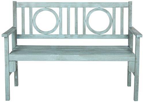 Safavieh Esstisch und Stühle, 5-Teiliges Set für den Garten, Holz, blau, 122 x 59 x 88.13 cm