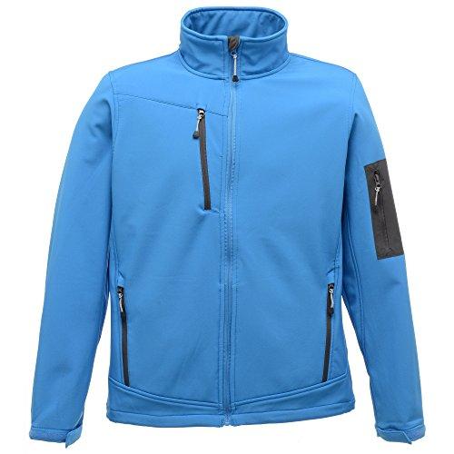 Regatta Standout Herren Arcola Softshell-Jacke, wasserdicht, atmungsaktiv Französisches Blau/Grau