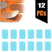 Slimerence EMS Abs Replacement Pads, Abs Trainer Replacement Gel Sheet Abdominal Toning Belt Muscle Stimulatior Toner Ab Trainer Accessories 12pcs Gel Sheets