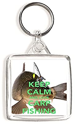 Keep Calm and Love Carp Fishing - Square Keyring