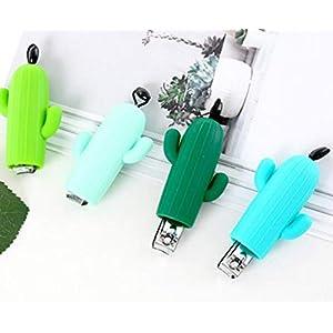 Nagelknipser – Edelstahl-Kaktus-Nagel-Trimmer-Maniküre-Nagel-Schneider-Karikatur-Fingernagel-Klipper(Zufällige Farbe)