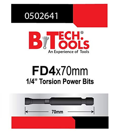 B.TECH TOOLS B. Tech 0502641 ACR Torsions-Bit, Schlitz, FD4.0, 70 mm
