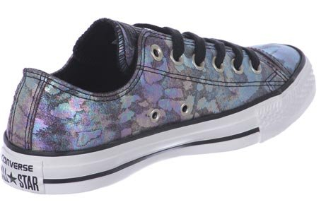 Converse All Star Oil Slick Leather W chaussures metallic