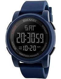 SKMEI Digital Black Dial Men's Watch-1257 Blue