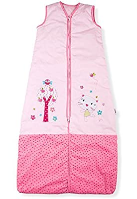 Sacos de Dormir para Bebé, Jardín Bonito del Gatito, Kiddy Kaboosh Varios Tamaños, Ligero, 0.5 Tog