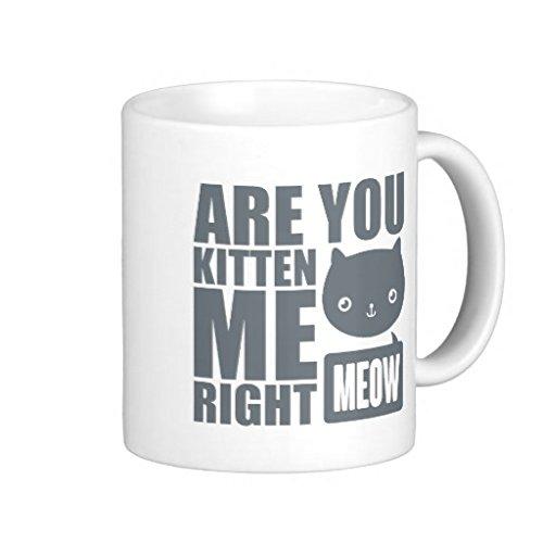 Lustige Fun QoiueoF sind sie Kitten Me Right Meow weiß Becher, 11 Unzen -