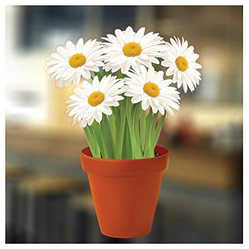 er mit Blumen in Vase-Saisonale Dekoration Fenster von Weihnachten 1. Standard 5. Daisies ()