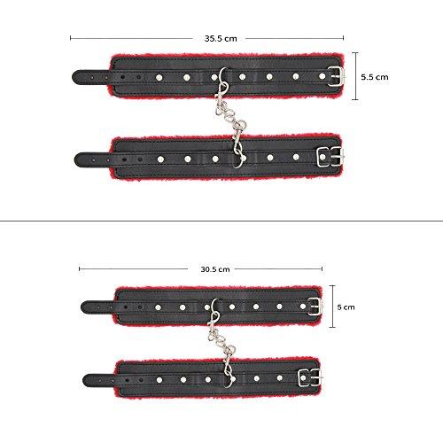 Bondage Set 11 teilig in Rot Schwarz fesselset sex Spielzeug Rollenspiele für Fesselspiele und Bondage Liebhaber - 8