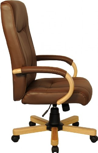 Affordable Farnham High Back Brown Leather Faced Executive Office Chair Reviews