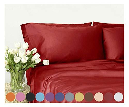 Swan Komfort Mikrofaser 4er Set Bed Sheet King Rot -