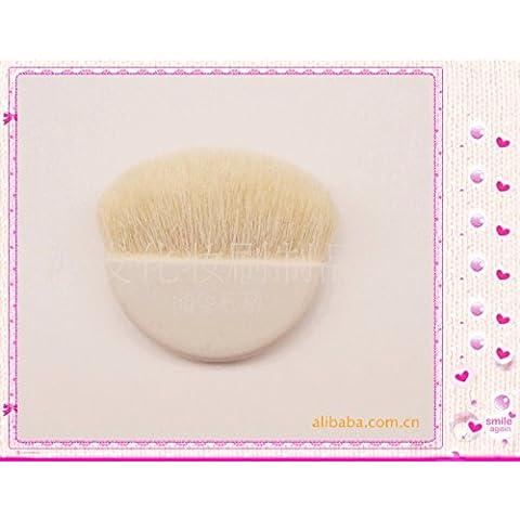 XNWP-Ronda de lana brocha para polvo de maquillaje maquillaje Accesorios cepillo blanco,gadget
