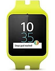 Sony Mobile SWR50 SmartWatch 3 Fitness- und Aktivitätstracker Armband Kompatibel mit Android 4.3+ Smartphones - Lime Sport