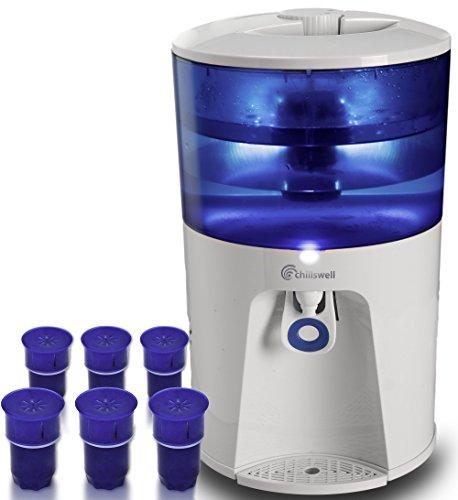Water Cooler machine et Année complète de filtres (6) | Chillswell 8.5litre électrique froid Distributeur d