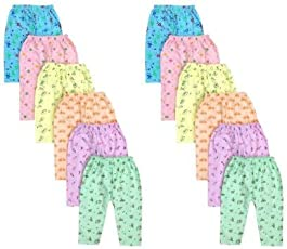 Rebizo Newborn Baby Cotton Pyjamas (564, 1-3 Months, Random) - Set of 6
