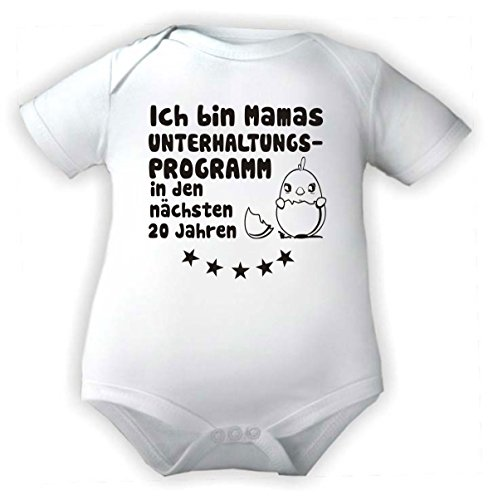 Body Baby 1/4-Arm mit Druck ICH BIN MAMA`S UNTERHALTUNGSPROGRAMM... (Gr. 62/68) / 150030
